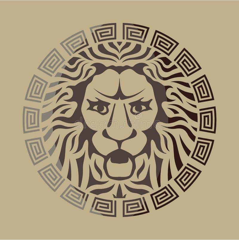狮子商标葡萄酒样式 皇族释放例证