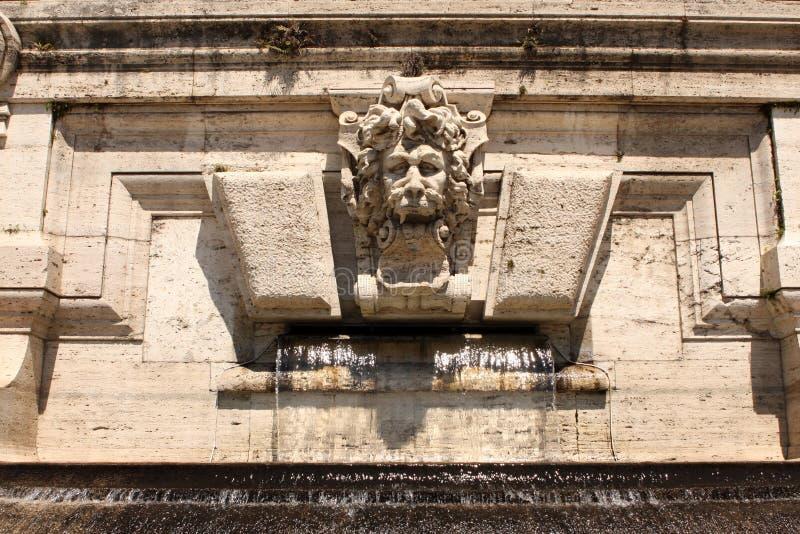 狮子喷泉罗马意大利 库存照片