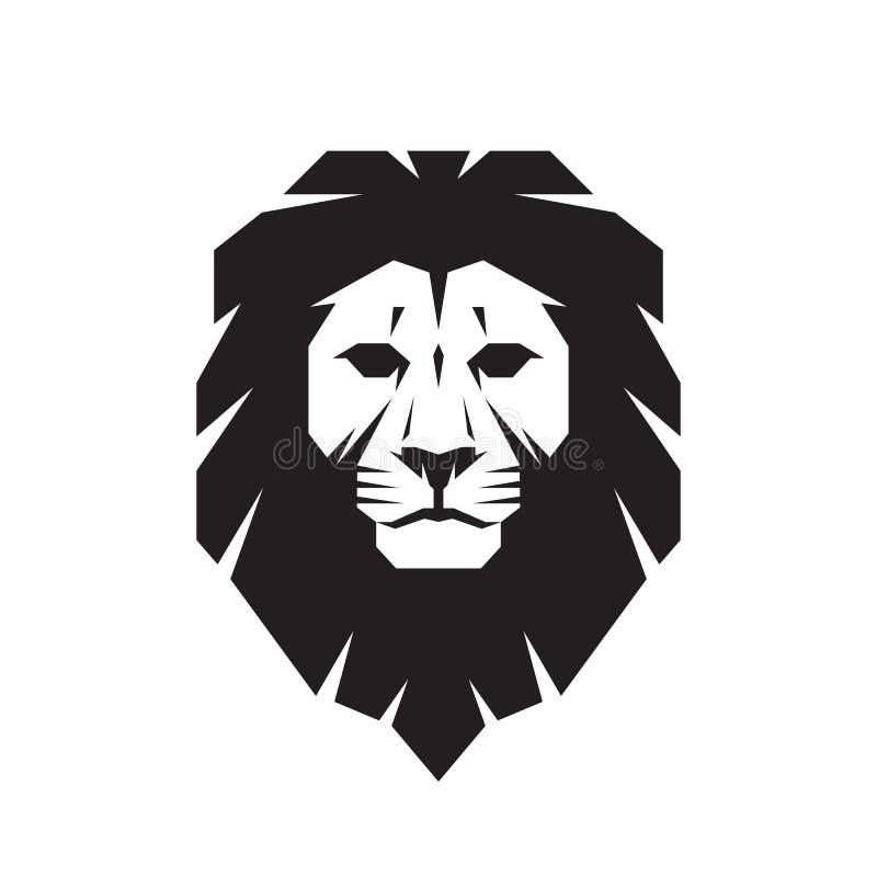 狮子坚硬的传染媒介标志概念例证 狮子顶头商标 狂放的狮子头图表例证 向量例证