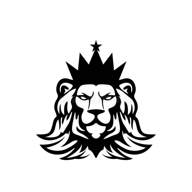 狮子坚硬的标志概念例证 向量例证