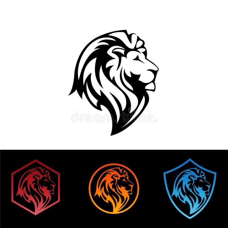 狮子坚硬的标志概念例证 库存例证