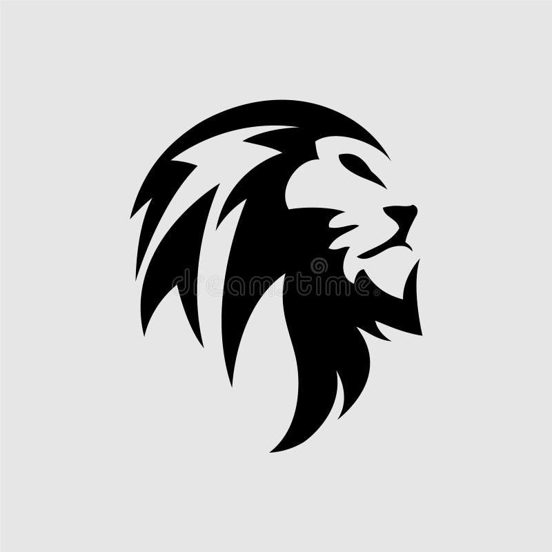 狮子坚硬的标志概念例证 皇族释放例证