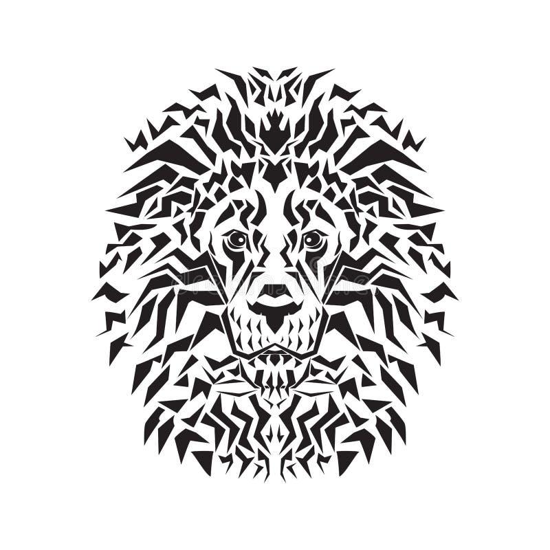 狮子头线艺术  库存例证