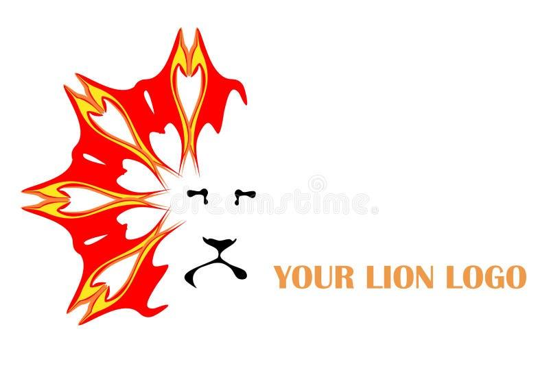 狮子徽标 皇族释放例证