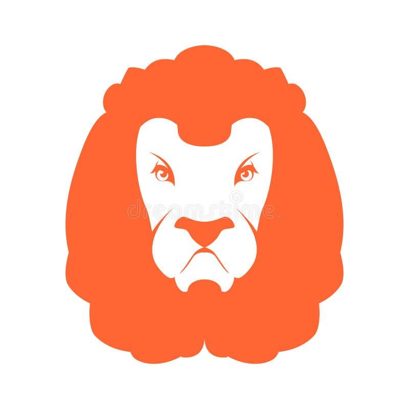 狮子标志商标 利奥象征象 野生动物大草原 前非洲 库存例证