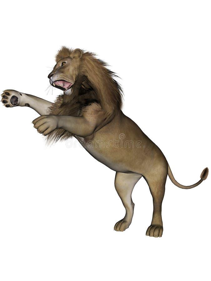 狮子男 库存例证