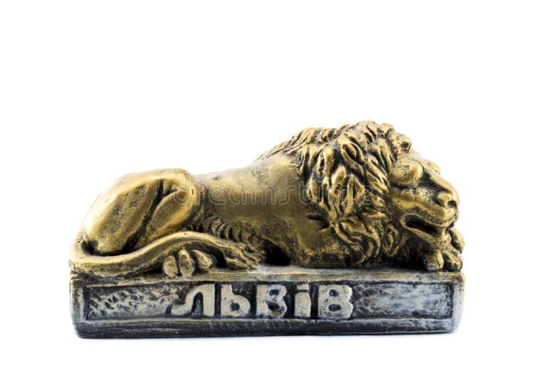 狮子的小雕象 库存图片