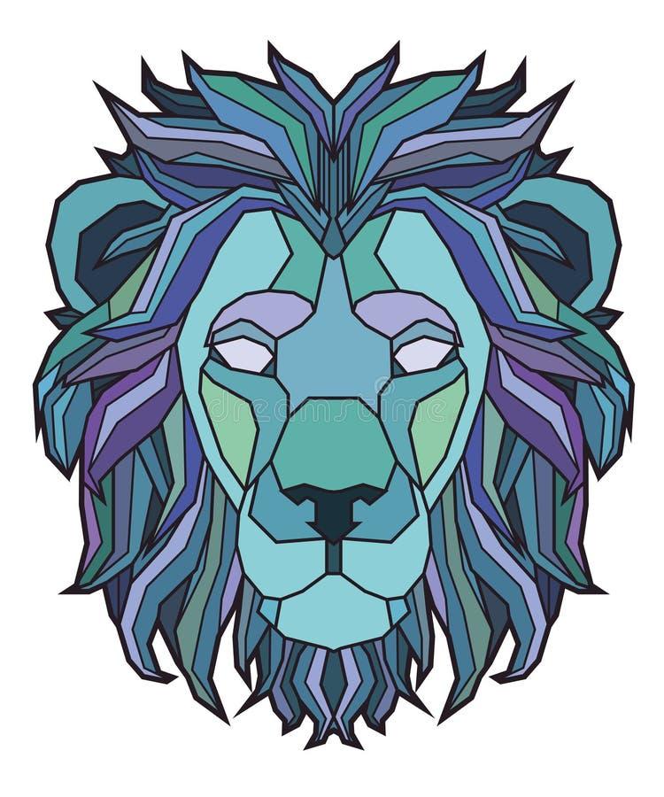 狮子的顶头例证 免版税库存图片