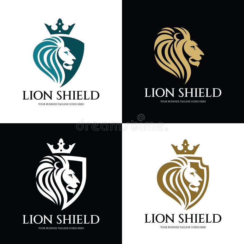 狮子盾 免版税库存照片