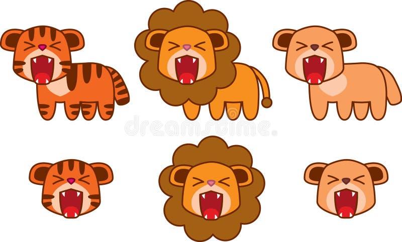 狮子美洲狮老虎 免版税库存图片