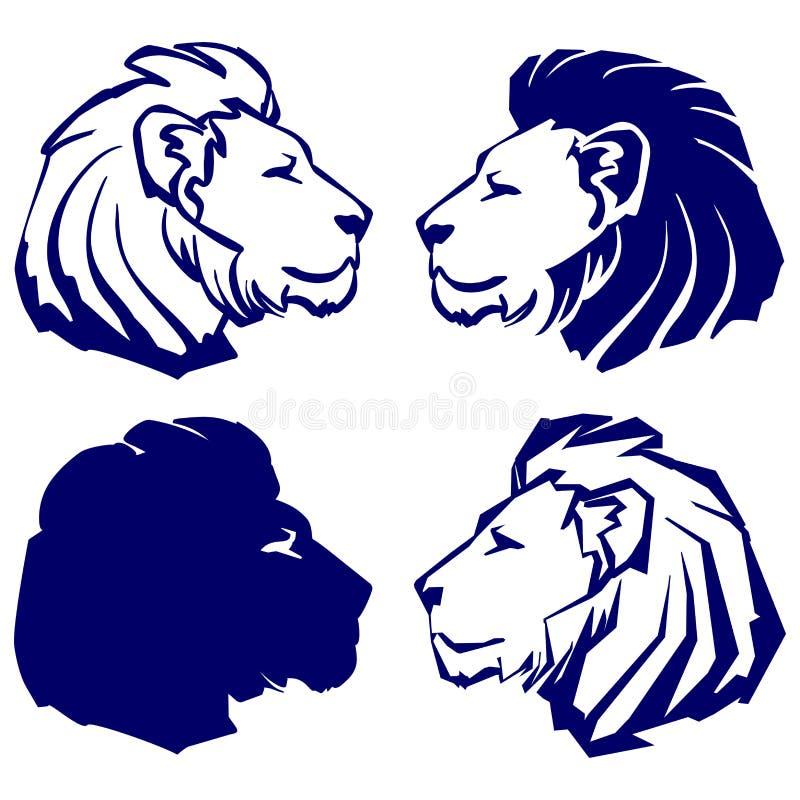 狮子象剪影动画片传染媒介例证 向量例证