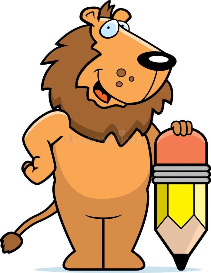 狮子铅笔 库存例证