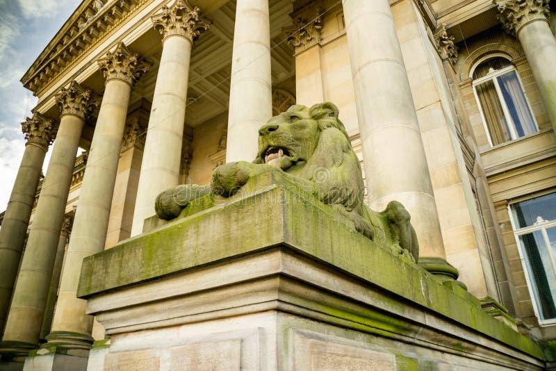 狮子雕象在伯勒屯,英国 库存照片