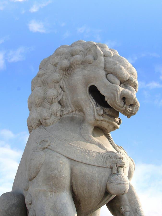 狮子雕象,北京,中国 免版税库存照片