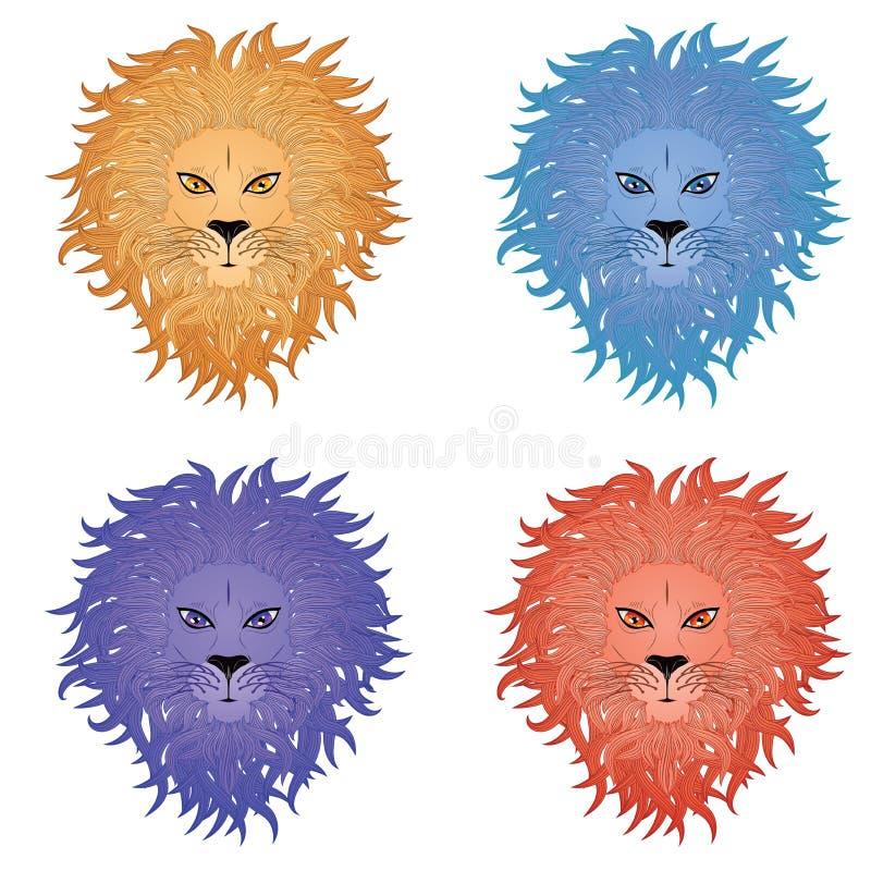 狮子面孔 皇族释放例证