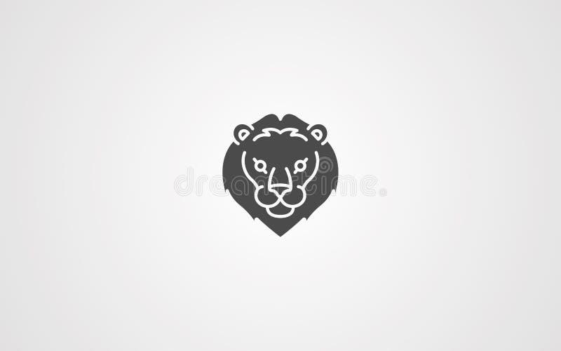 狮子顶头传染媒介象标志标志 皇族释放例证