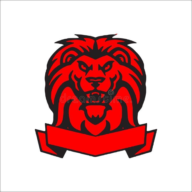 狮子顶头商标传染媒介 向量例证