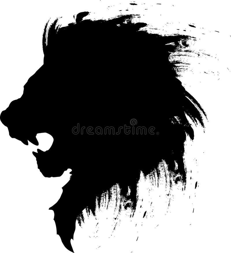 狮子顶头纹身花刺4 免版税库存图片