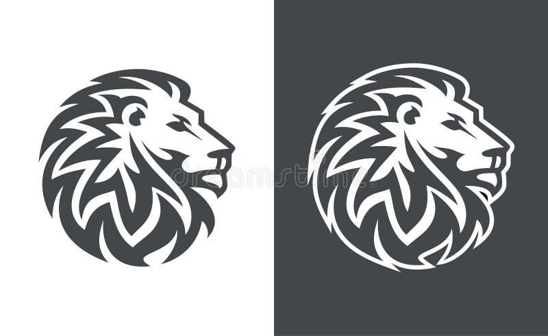 狮子顶头传染媒介商标设计,抽象老虎商标 向量例证