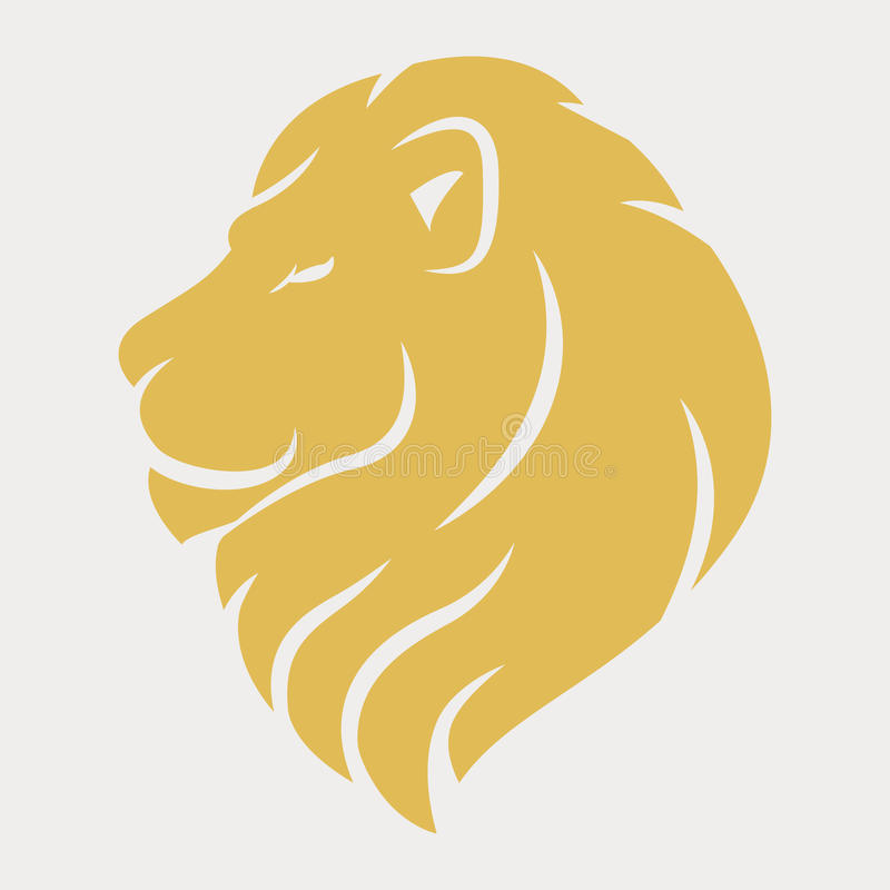 狮子顶头商标 皇族释放例证