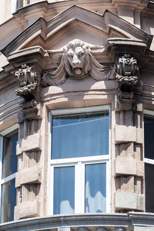 狮子顶头布达佩斯匈牙利 库存照片