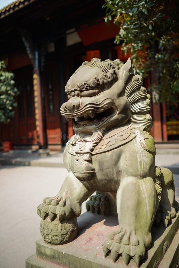 狮子,中国石雕象  免版税库存照片