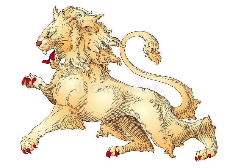 狮子幻想动物 库存例证