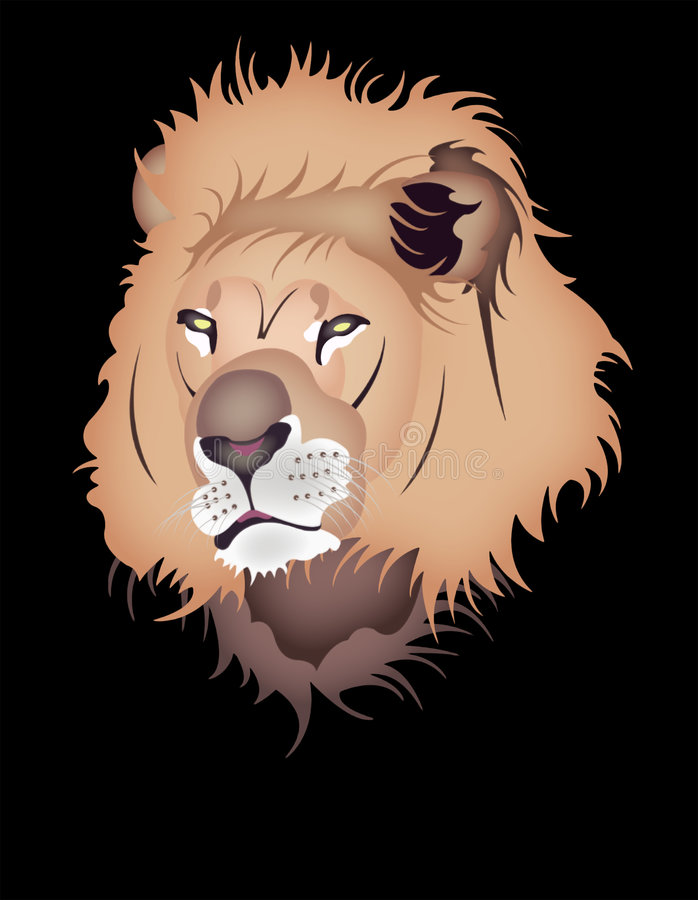 狮子 向量例证