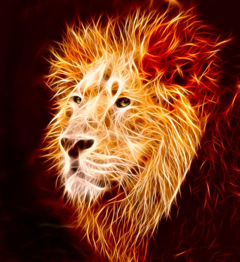 狮子 皇族释放例证