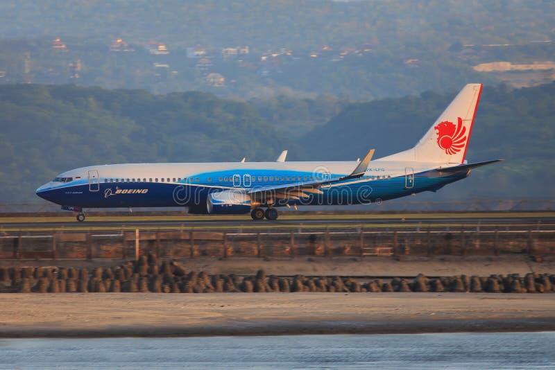 狮航波音737-900ER,衰变/秒 免版税库存照片
