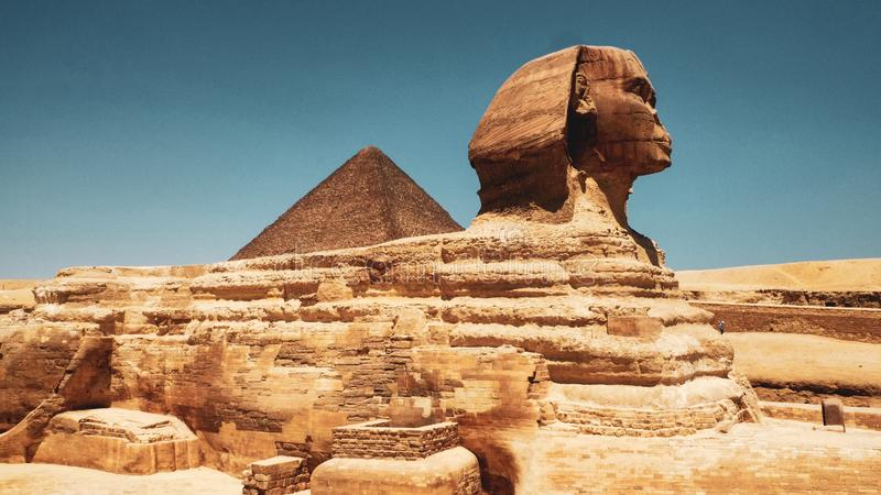 狮身人面象在吉萨棉,开罗 免版税库存图片