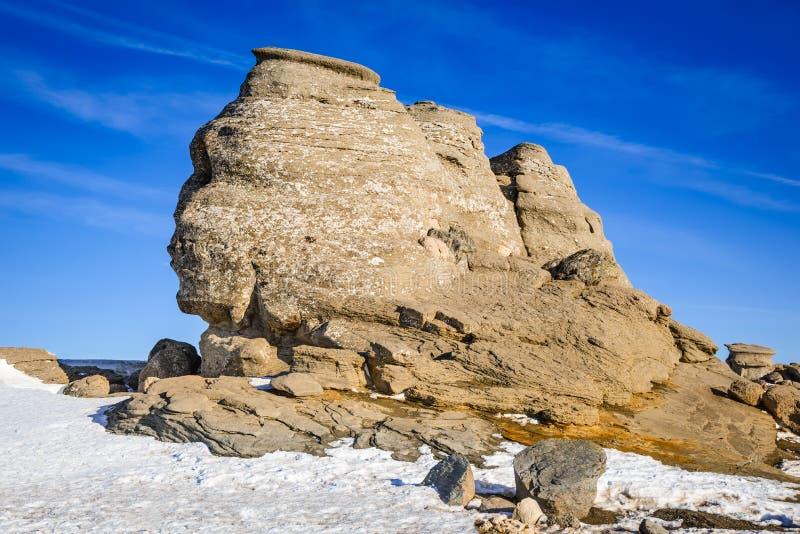 狮身人面象, Bucegi山,罗马尼亚 库存照片