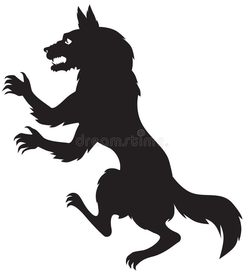 狼人的剪影 皇族释放例证