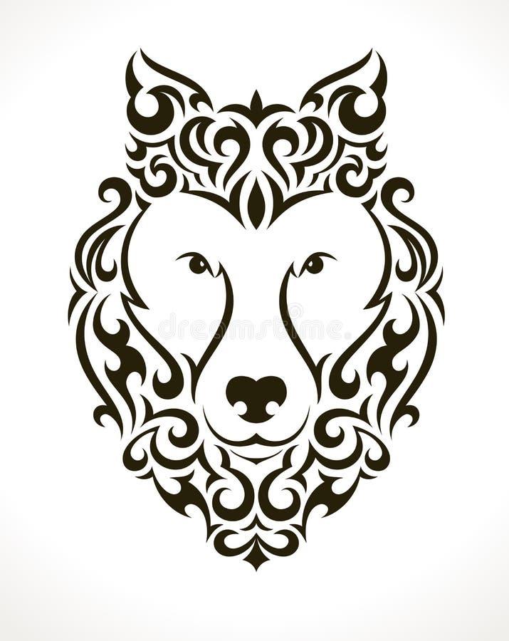 狼传染媒介纹身花刺例证