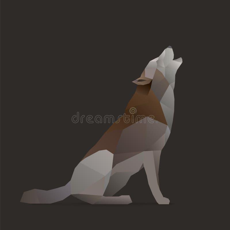 狼唱歌 向量例证