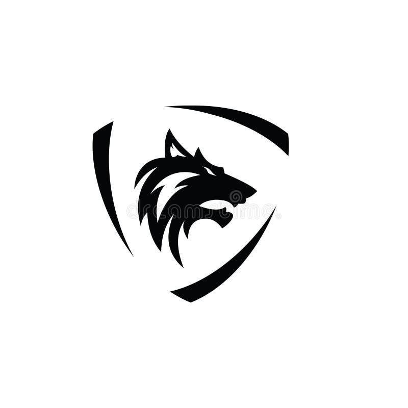狼商标传染媒介 库存图片