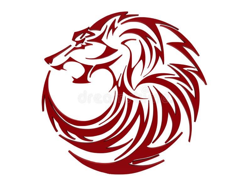 狼-红色圈子设计 向量例证