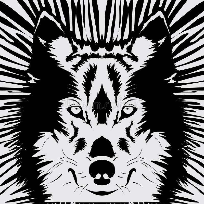 狼头 库存例证