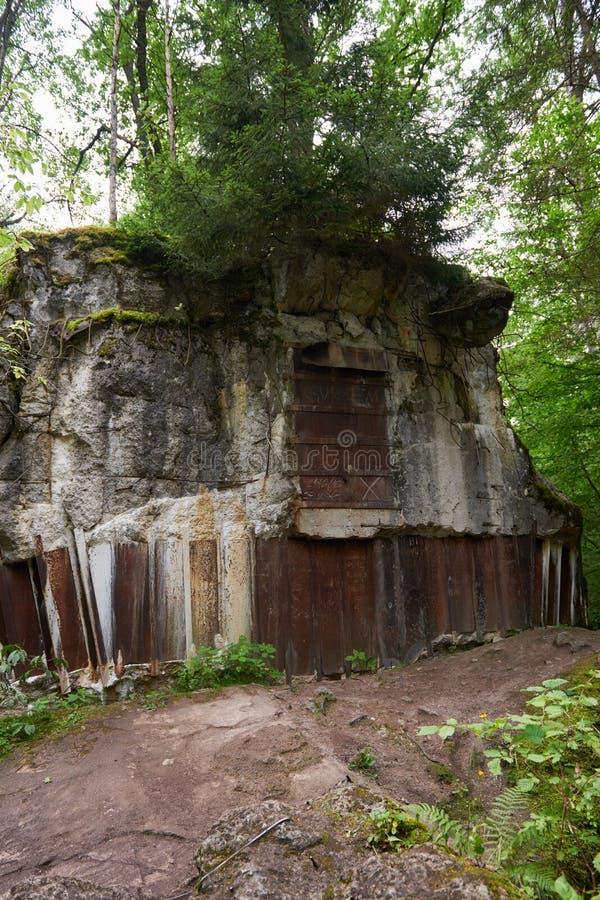 狼` s穴地堡博物馆在波兰 免版税库存照片