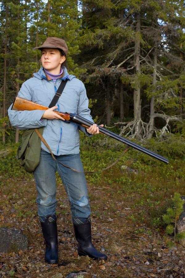 猎人年轻人 图库摄影