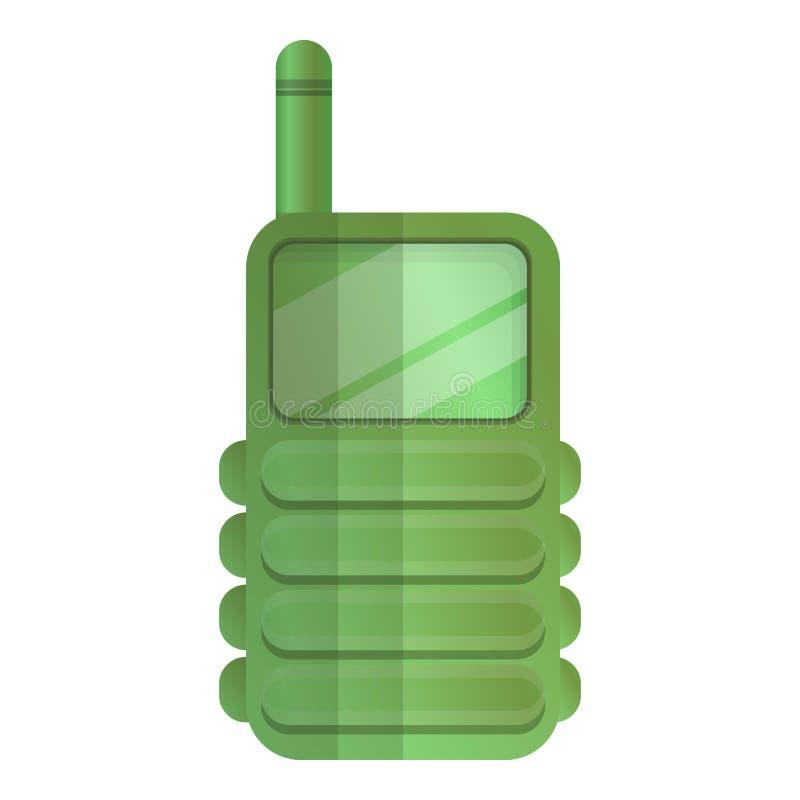 猎人携带无线电话象,动画片样式 皇族释放例证
