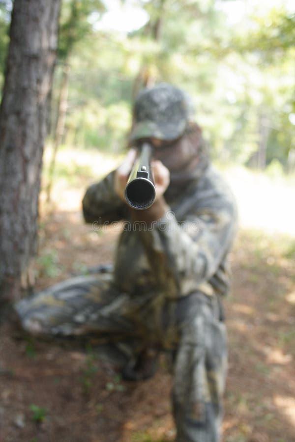 猎人狩猎 图库摄影