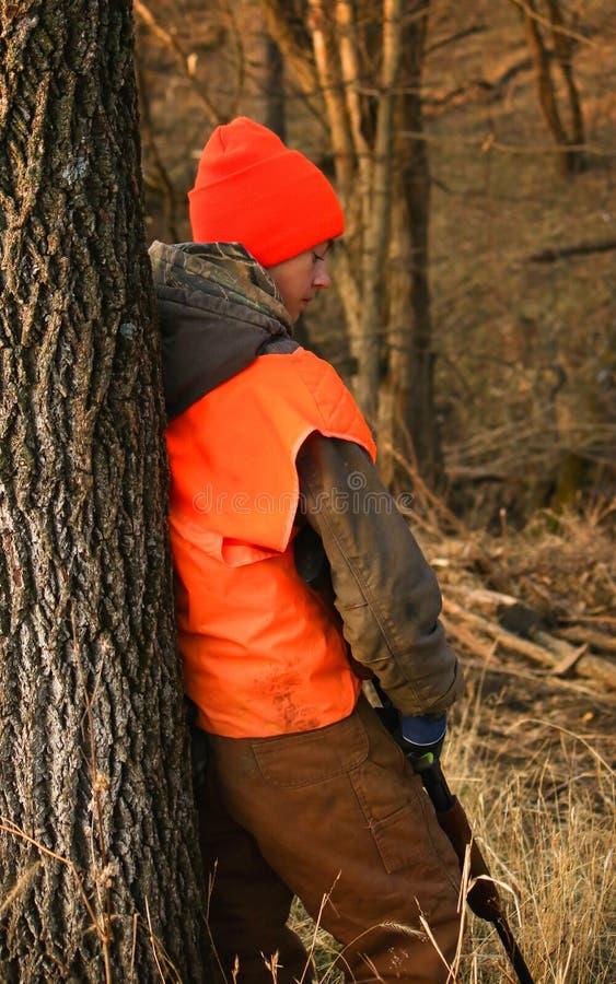 猎人等待 免版税库存照片