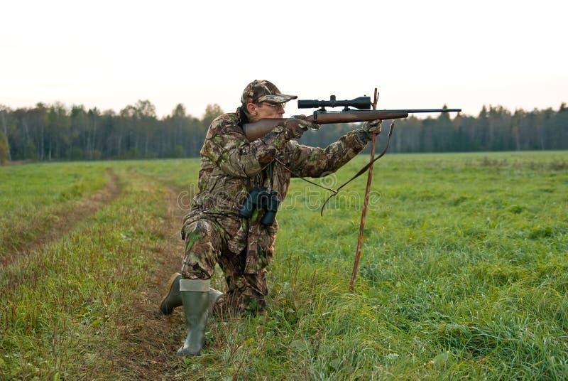 猎人膝盖一 免版税库存图片