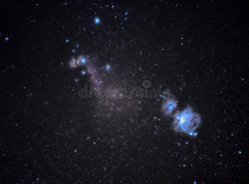 猎户星座星云,更加杂乱的42对象在Alava 免版税库存图片