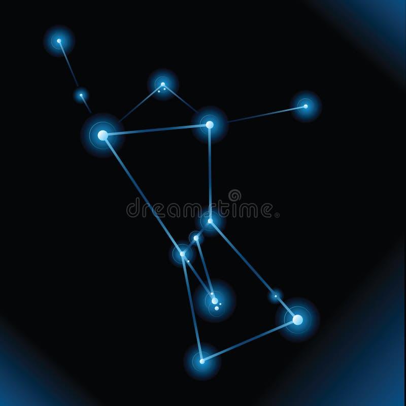 猎户星座星座 向量例证