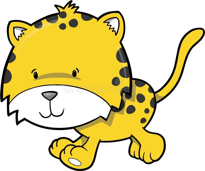 猎豹例证向量 库存例证