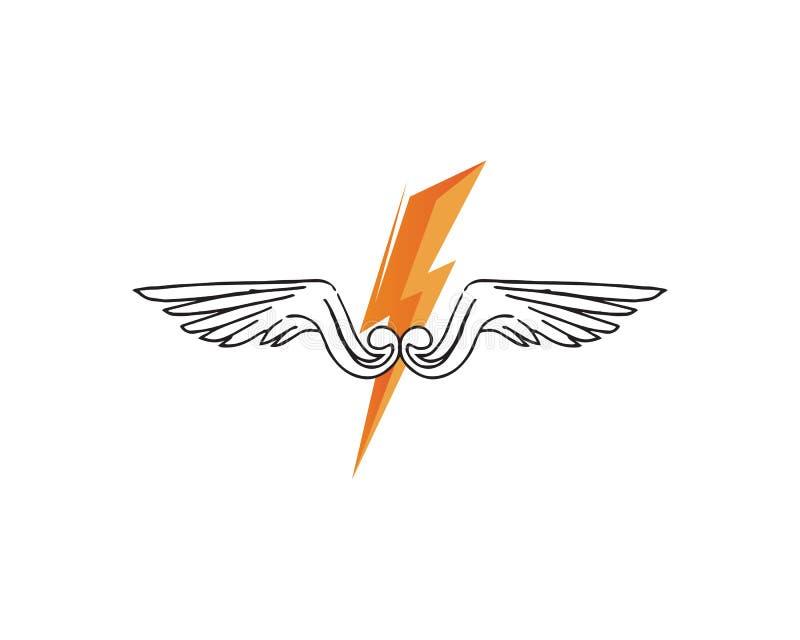 猎鹰翼商标模板传染媒介象设计 库存例证