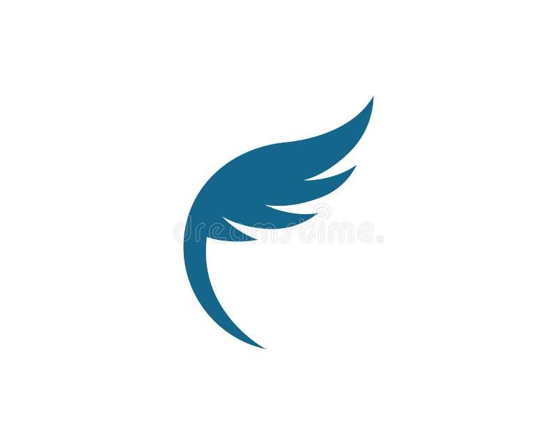 猎鹰翼商标模板 皇族释放例证
