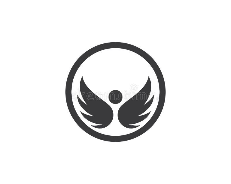 猎鹰翼商标模板 向量例证
